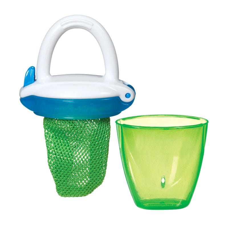 Deluxe Fresh Food Feeder - Blue/Green
