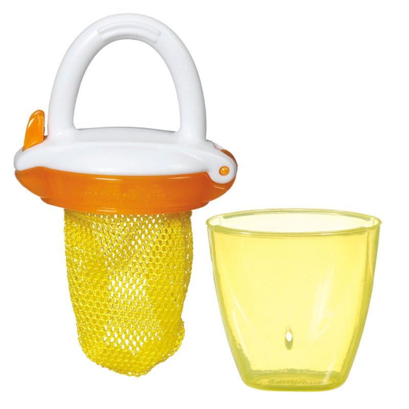 Deluxe Fresh Food Feeder - Yellow/Orange
