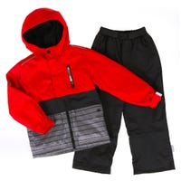 Red Solid 2 Pieces Outerwear 7-10y