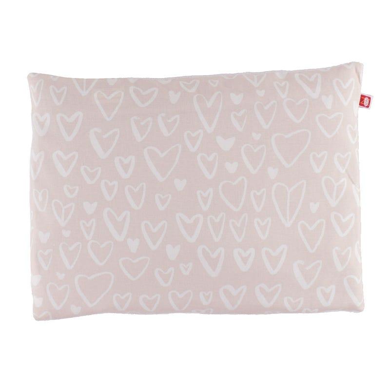 Buckwheat Pillow - Pink Hearts
