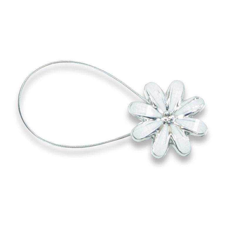 Magnetic Curtain Tie - White Daisy