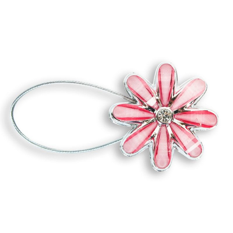Magnetic Curtain Tie - Pink Daisy