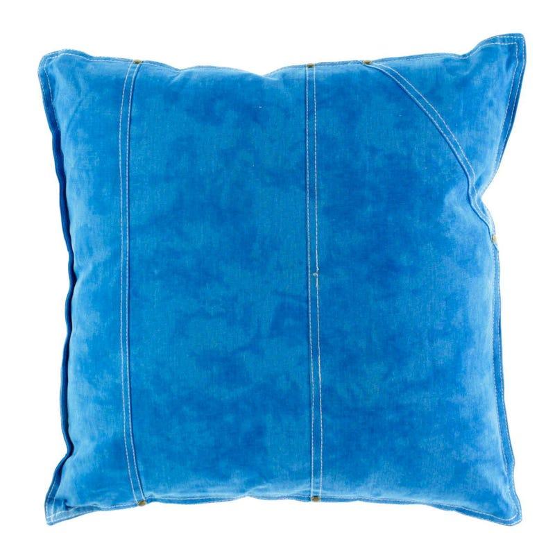 Coussin Uni Bleu