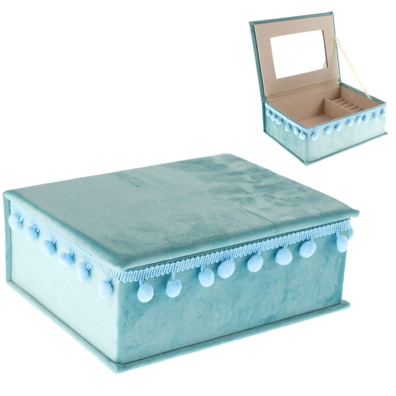 Jewelry Box Velours - Teal