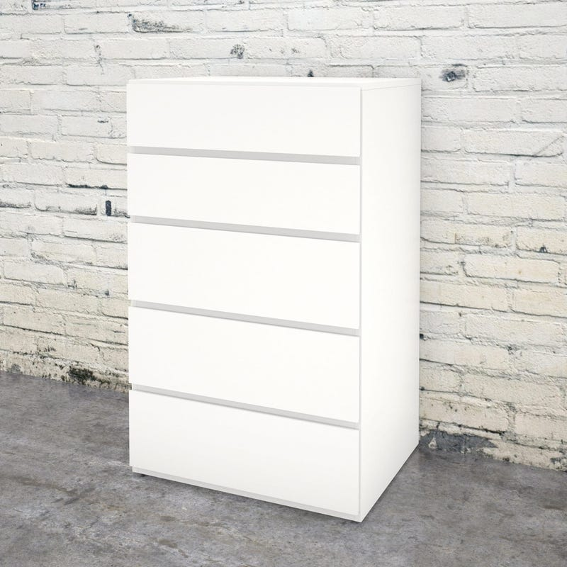 Bali 5-Drawer Chest - White