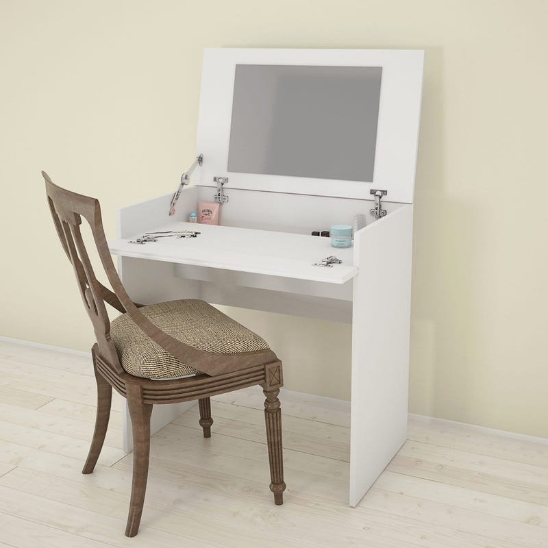 Bali Vanity with mirror / Writing Desk - White