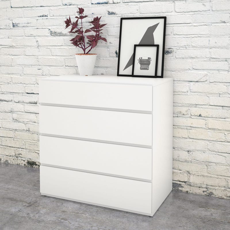 Bali 4-Drawer Chest - White