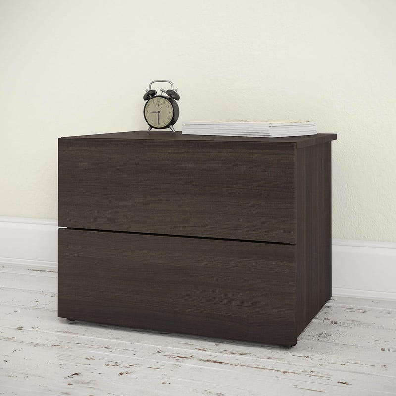 Alaska Nightstand 2-Drawer - Ebony