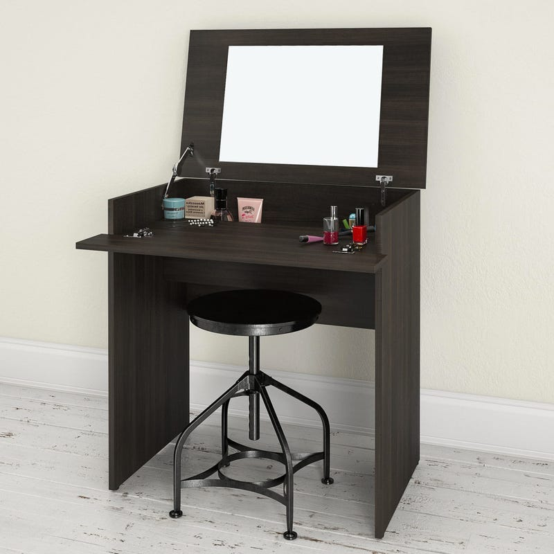 Alaska Vanity with mirror / Writing Desk - Ebony