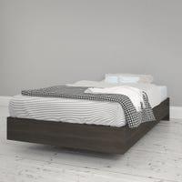 Jet Twin Size Platform Bed - Ebony