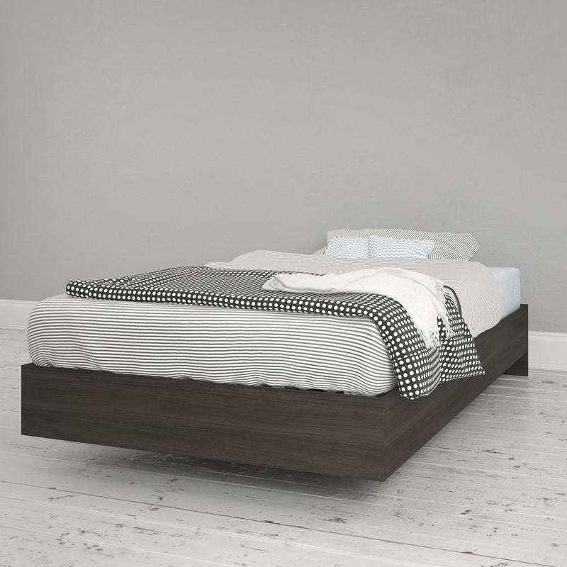 Jet Twin Size Platform Bed - Ebony