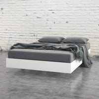 Acapella Full Size Platform Bed - White