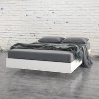 Acapella Full Size Platform Bed - White