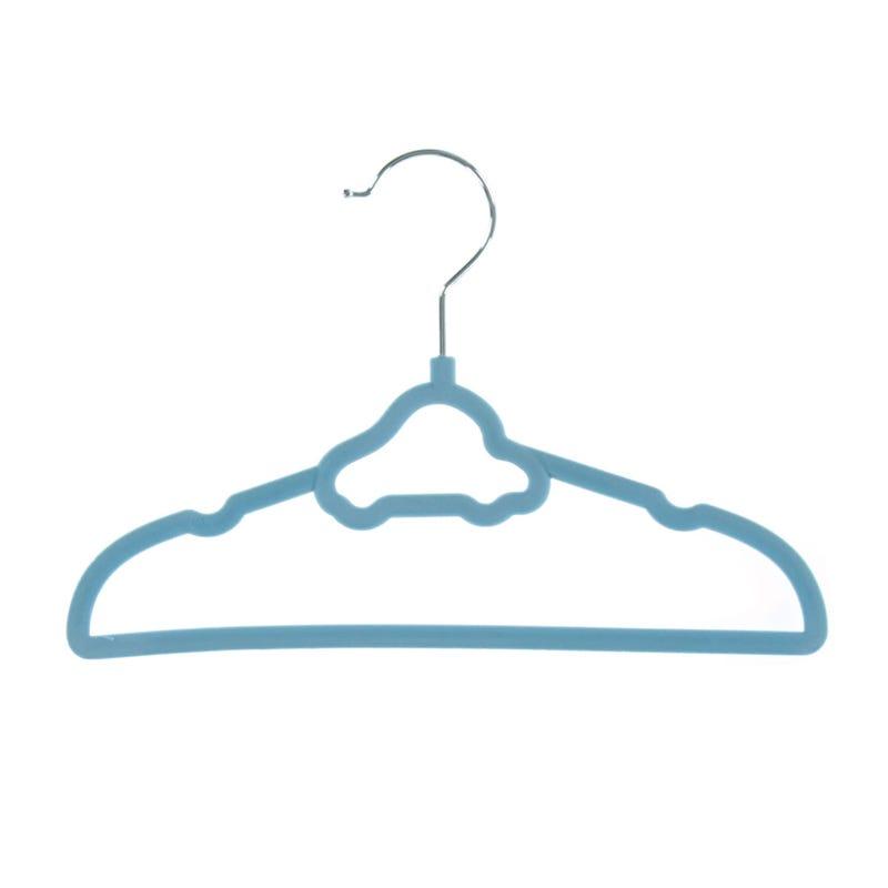 Cintres en Velour (10) Auto- Bleu