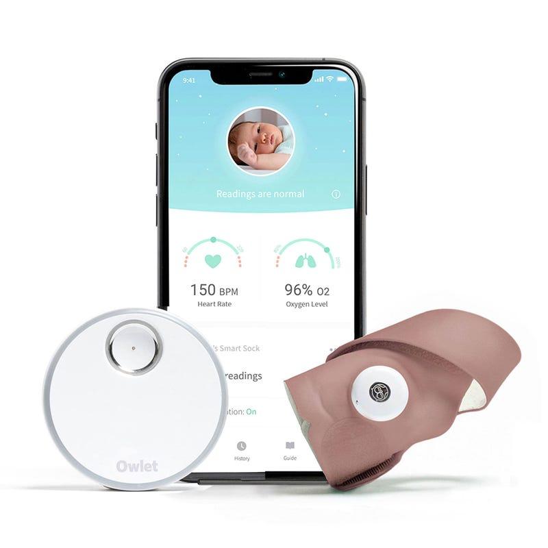 Smart Sock Monitor 3 - Dusty Pink