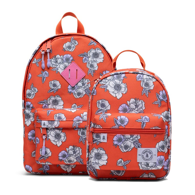 Bundle Backpack and Lunch Box - Poppy
