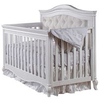 Diamante Convertible Crib - Vintage White