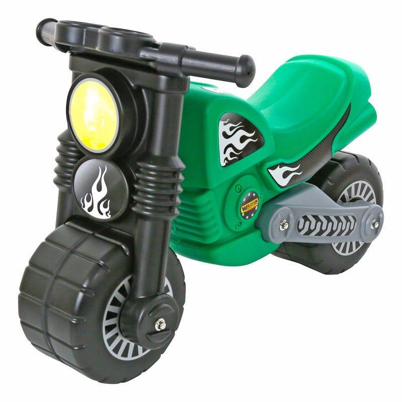 Flaming Star Green Motorcycle