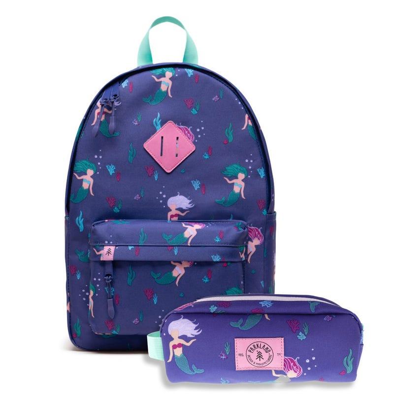 Bundle Backpack and Pencil Case - Mermaid