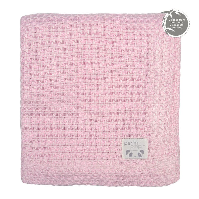 Bamboo Knitted  Blanket - Pink