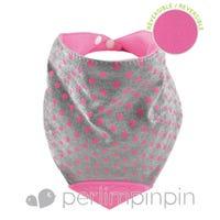 Teething Bib - Dots/Pink