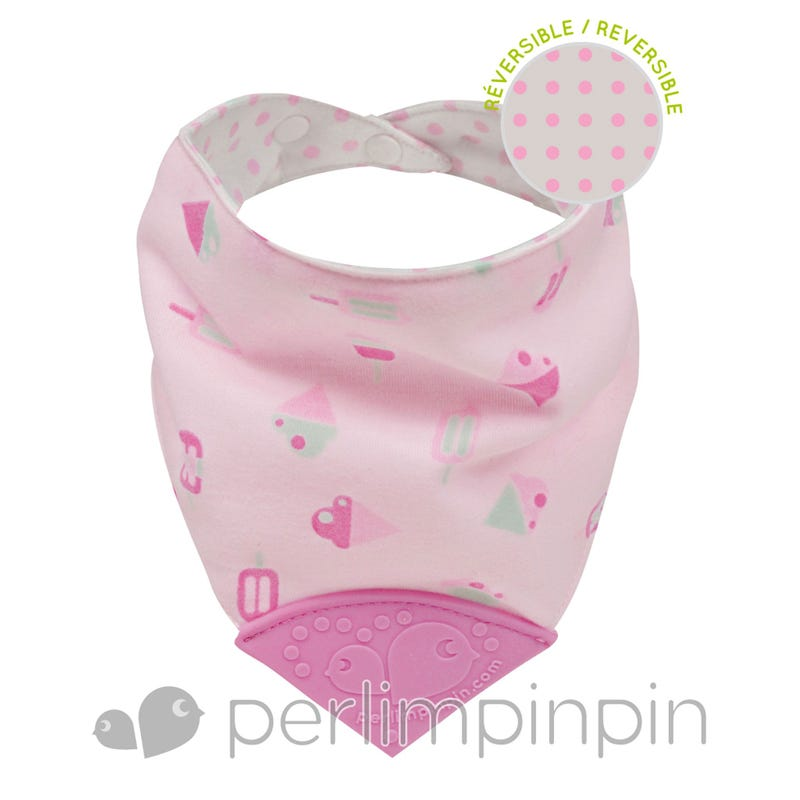 Teething Bib Ice Cream - Pink