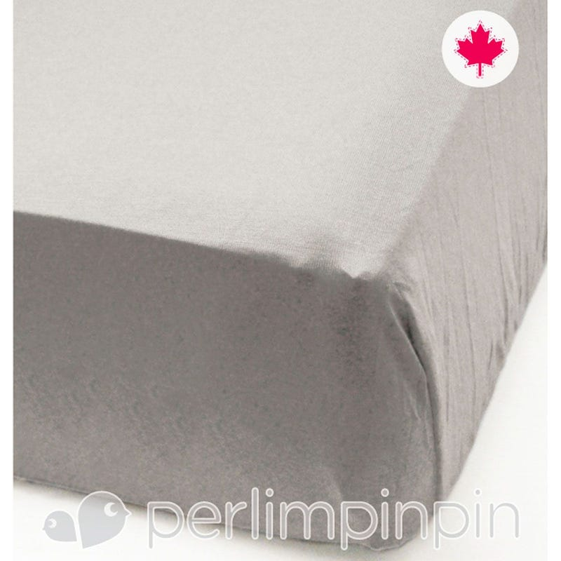 Crib Fitted Sheet - Gray