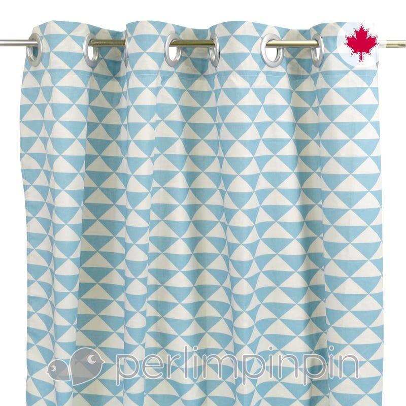 Rideau 54x84 Triangle Bleu