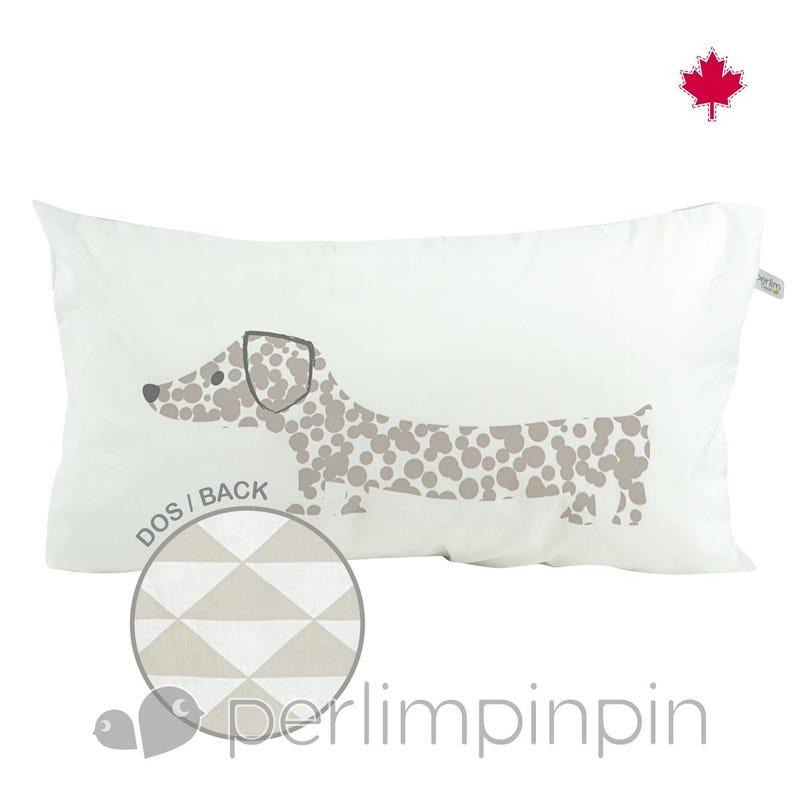 Reversible Rectangular Cushion - Dog