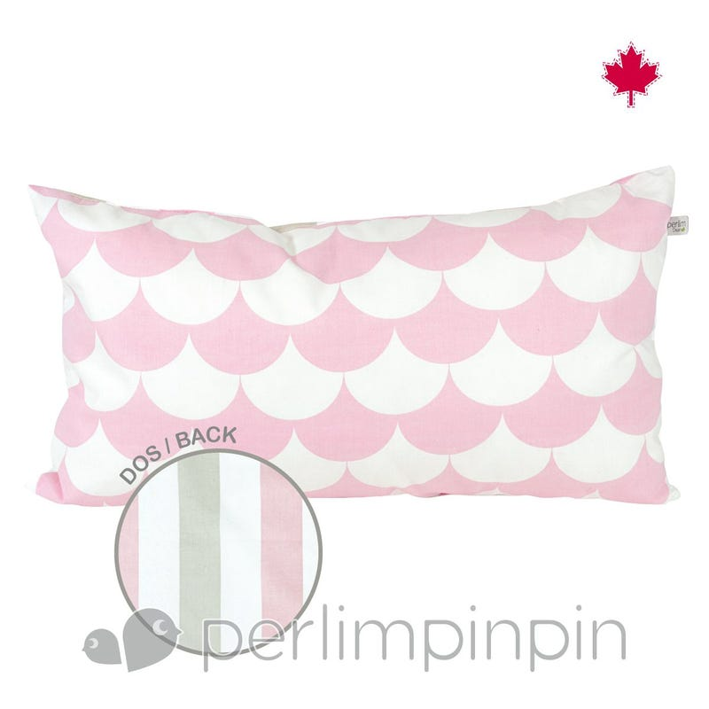 Reversible Rectangular Cushion Feston - Pink