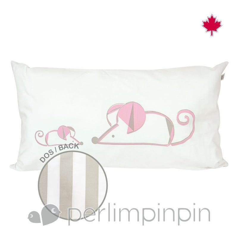 Coussin Souris+Ray Taupe
