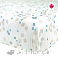 Crib Fitted Sheet Square - Blue