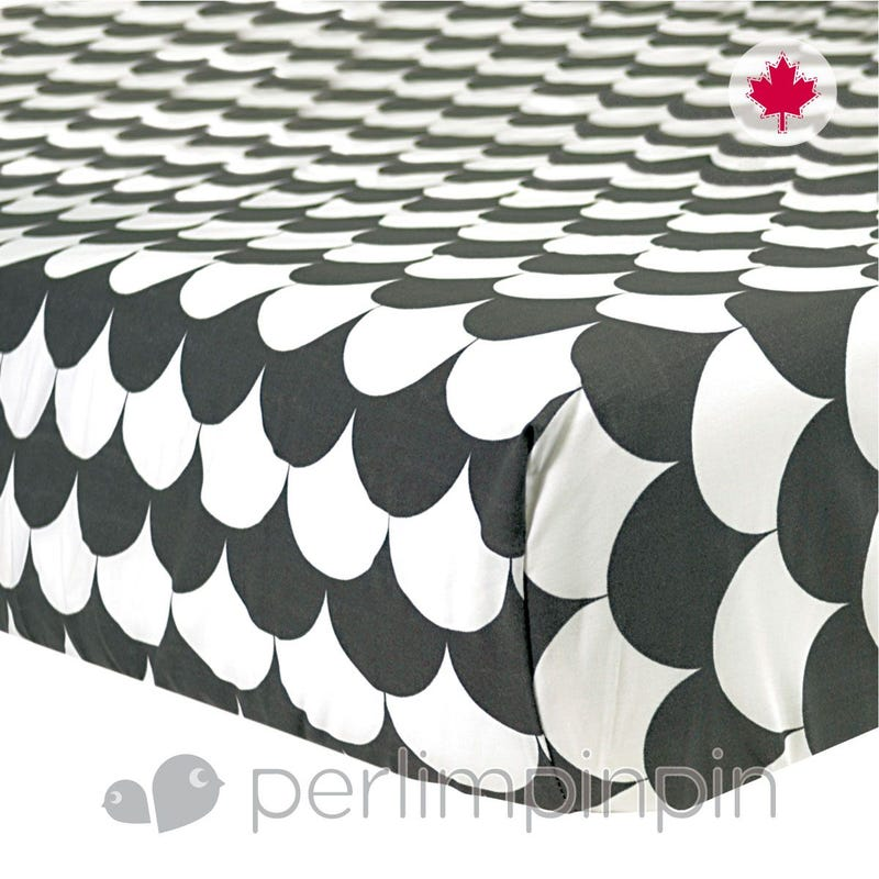 Crib Fitted Sheet - Charbon