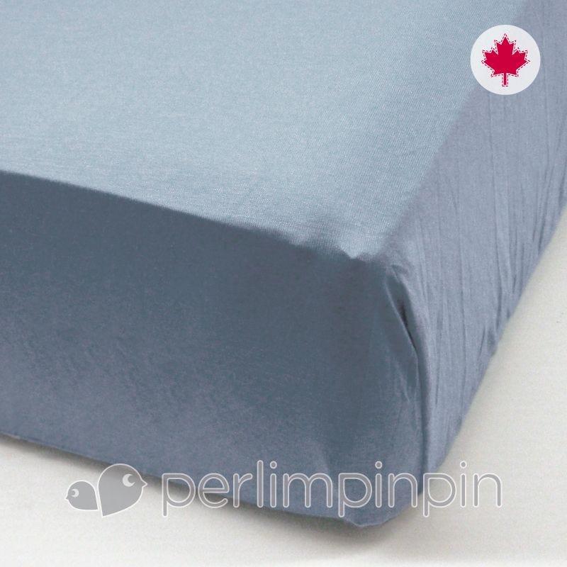 Crib Flat Sheet - Denim