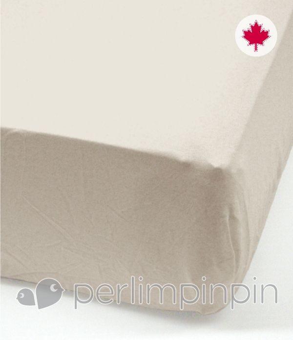 Crib Flat Sheet - Mastic