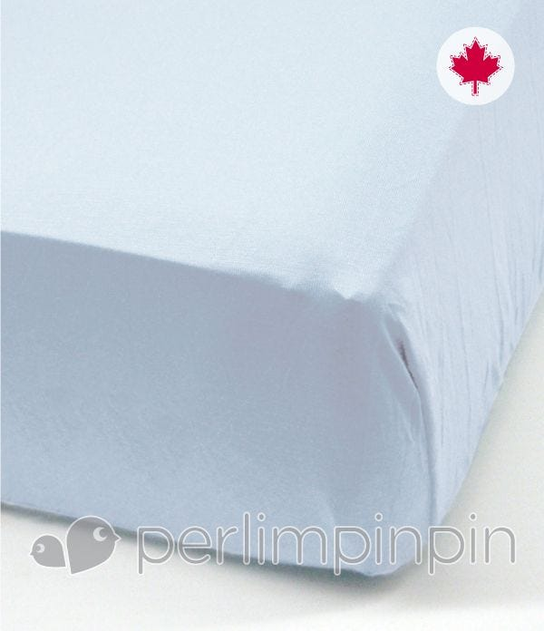 Crib Flat Sheet - Blue