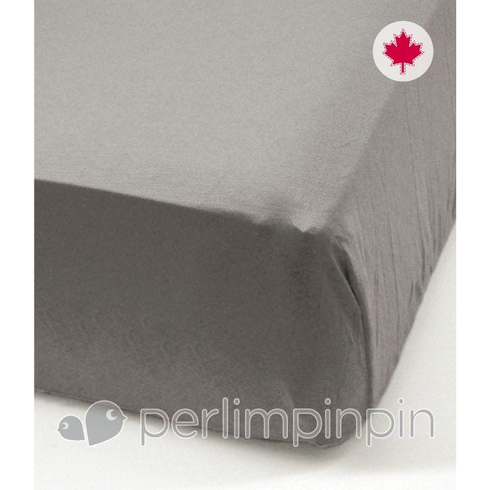 Crib Flat Sheet  - Gray