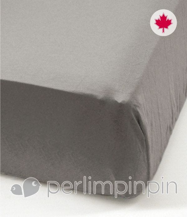 Crib Flat Sheet  - Gray
