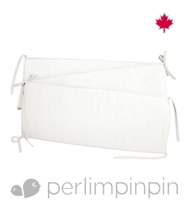Solid Bumper Pad - White