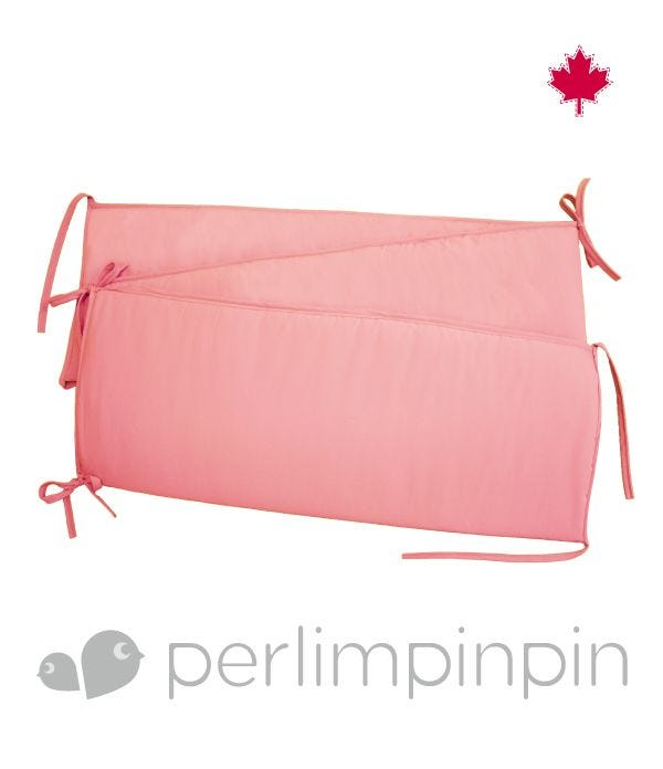 Solid Bumper Pad - Strawberry Pink