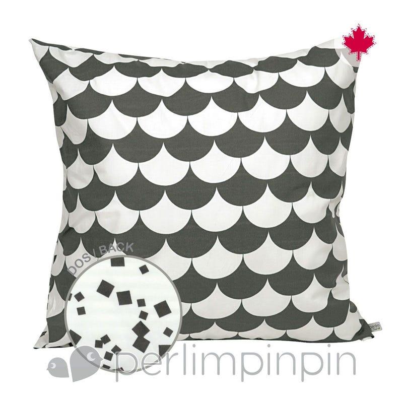 Reversible Large Cushion Feston - Charcoal