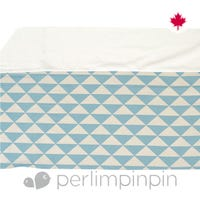 Printed Bed Skirt Triangle - Blue