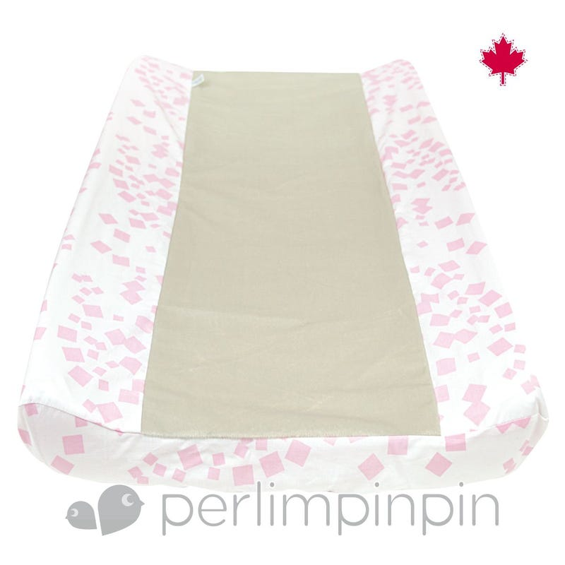 Changing Pad Cover Square - Pink