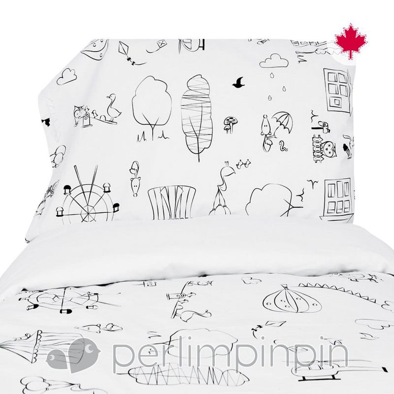 Twin Duvet Cover Color Me - White