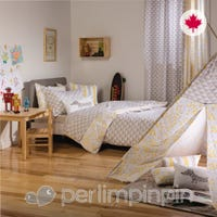 Housse Lit Double Cache-Oreiller Triangle - Taupe