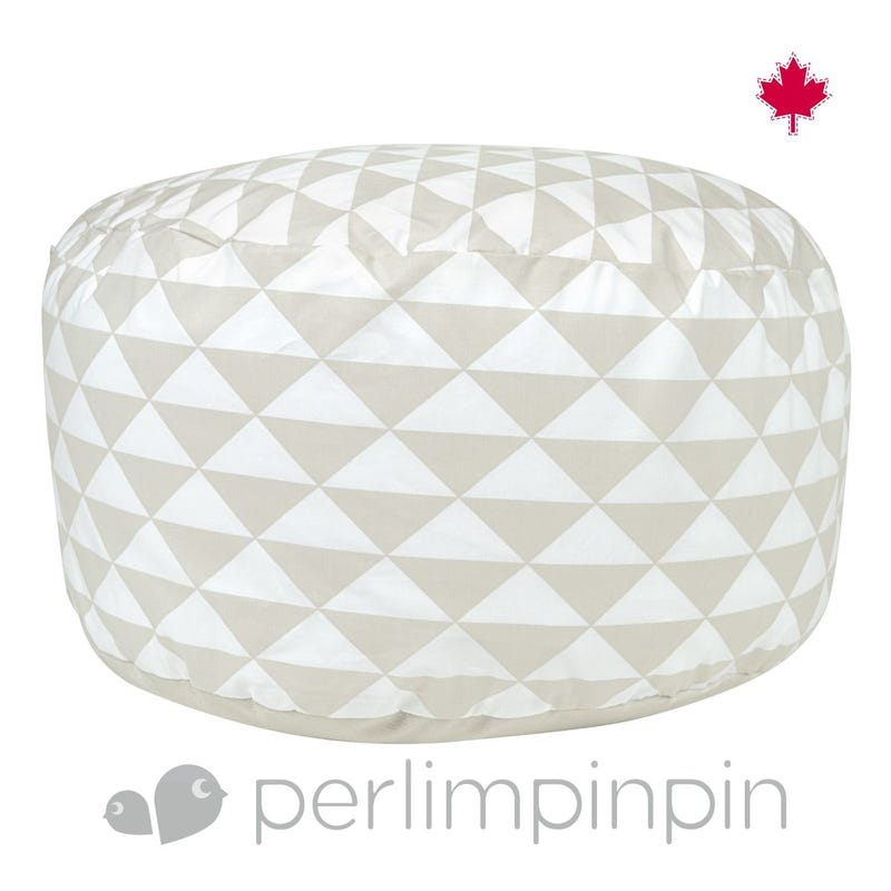Housse Pouf Triangle - Taupe