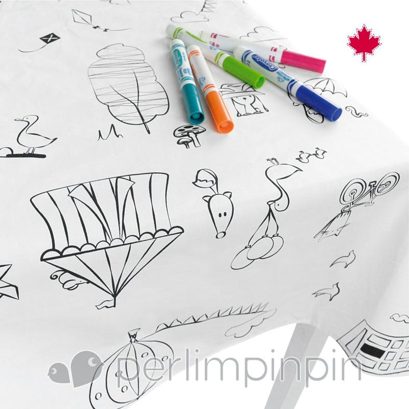 Tablecloth To Color - White