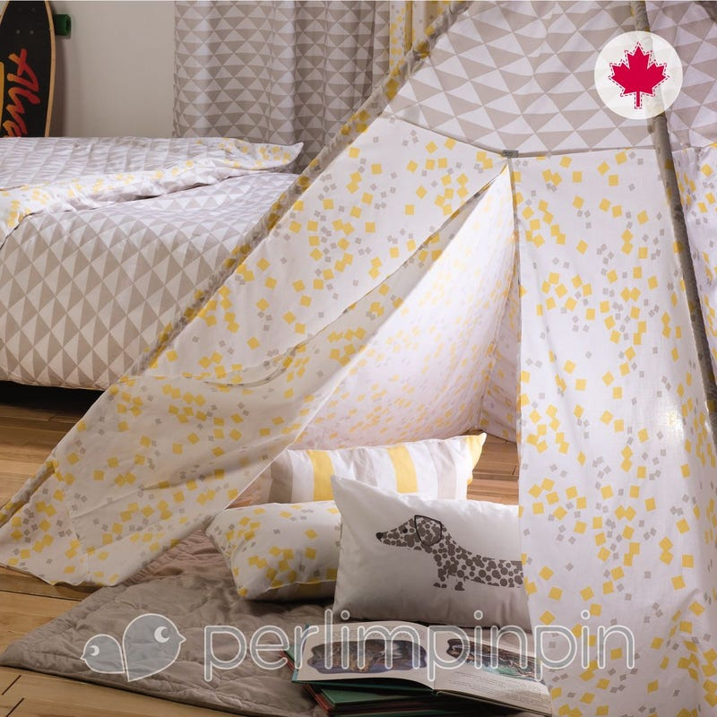 Teepee Cover - Yellow Square