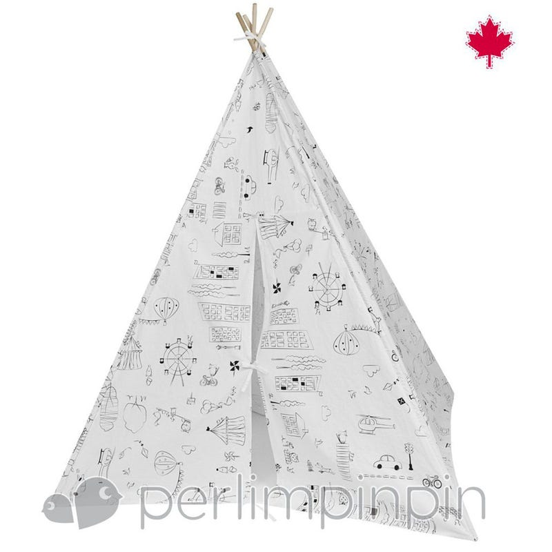 Teepee Cover - Color Me White