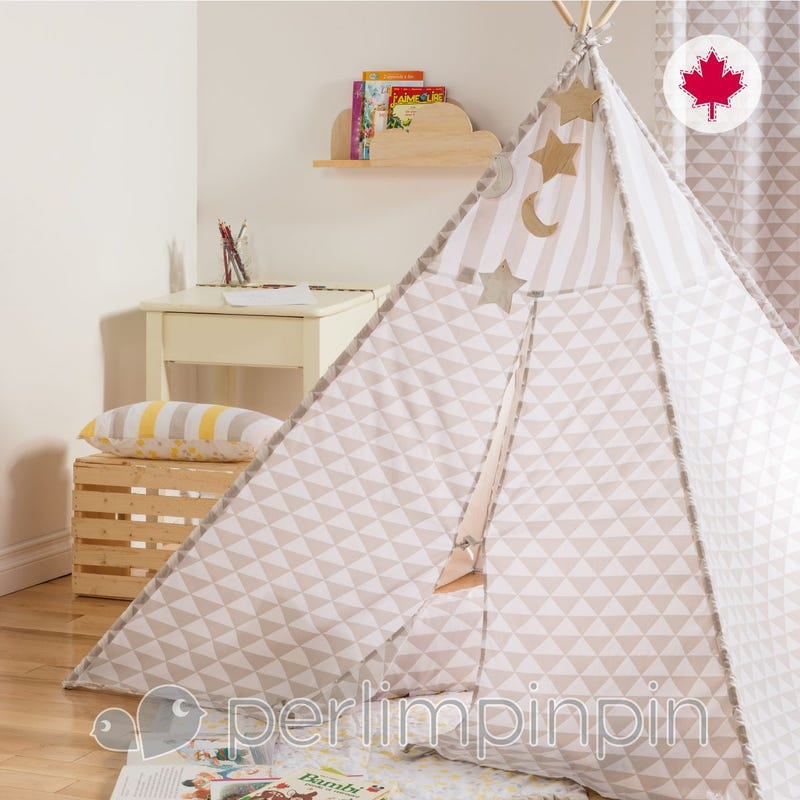Housse Tipi Triangle - Taupe